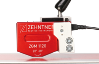 ZGM 1120.26.S.1mm mounted for online gloss measurement with measuring distance